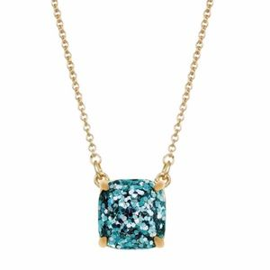 KATE SPADE Cause A Stir Turquoise Glitter Necklace